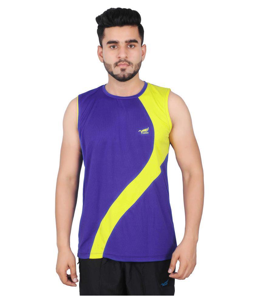 NNN Purple Polyester T-Shirt