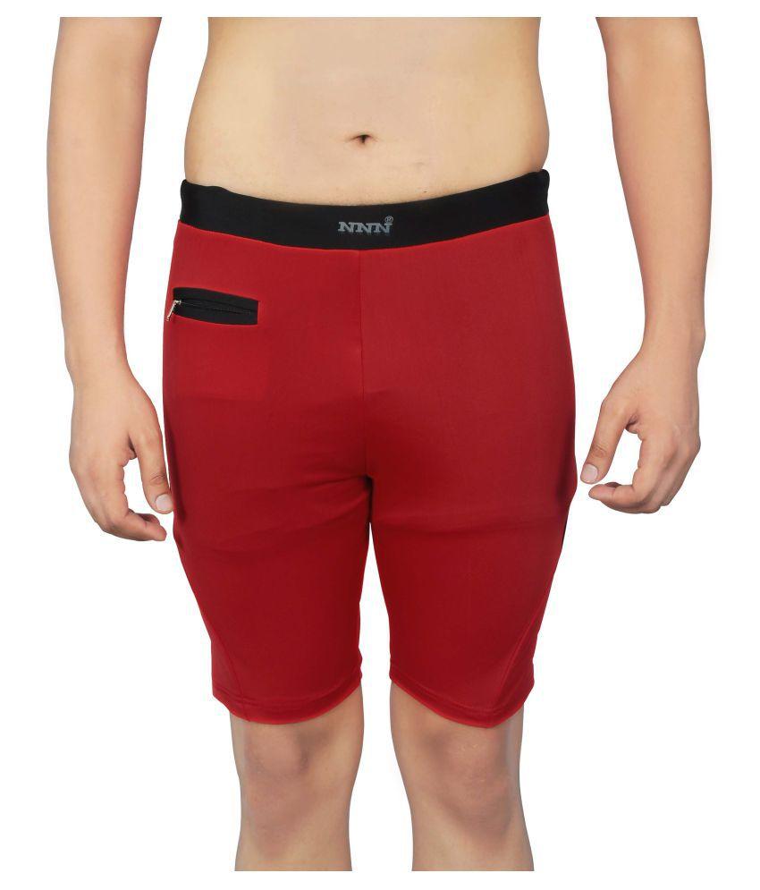 NNN Red Lycra Swim Trunk/ Swimming Costume