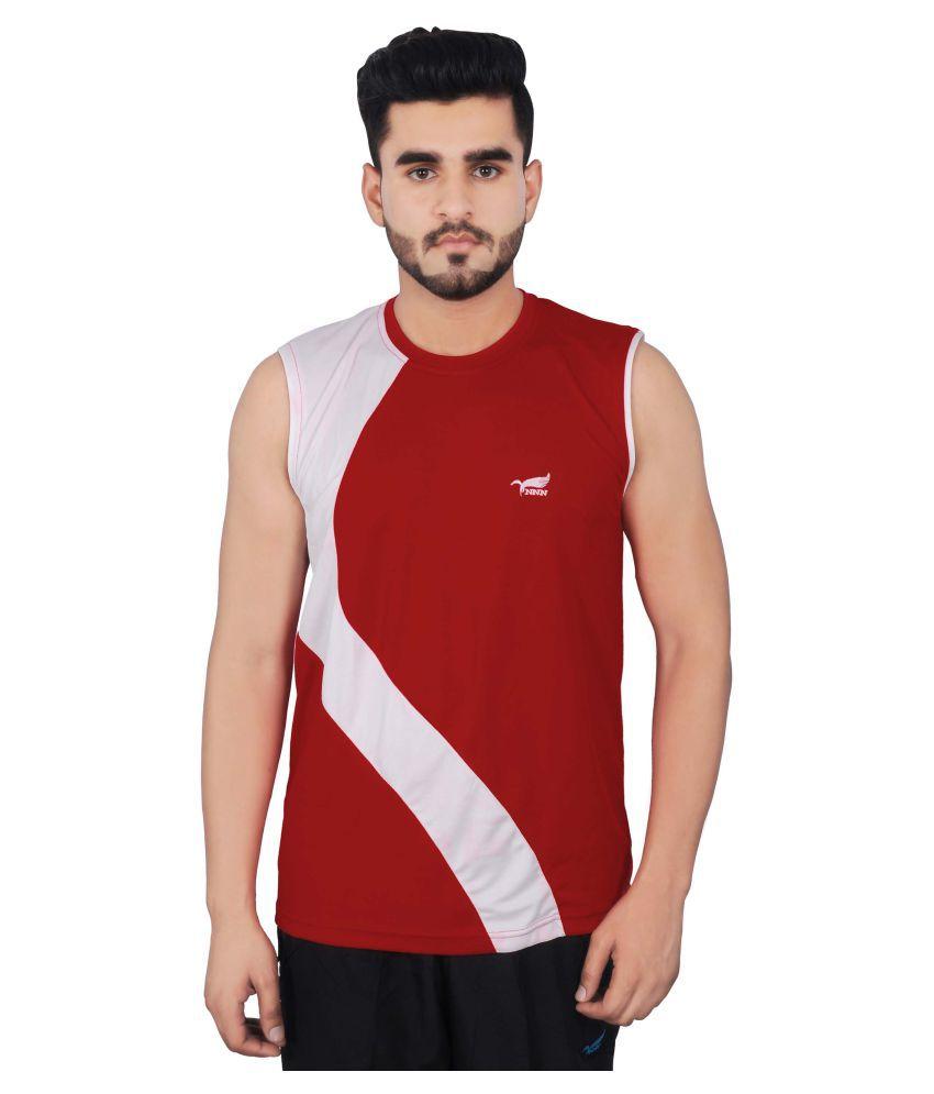 NNN Red Polyester T-Shirt