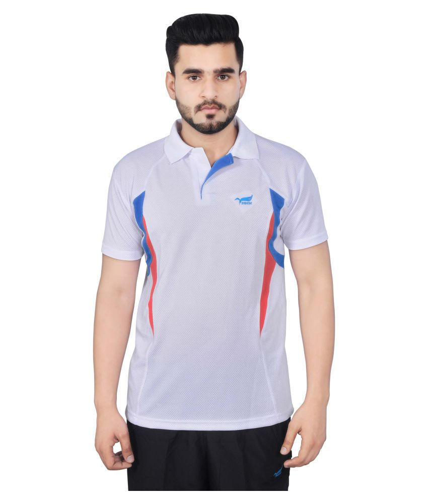 NNN White Polyester Polo T-Shirt