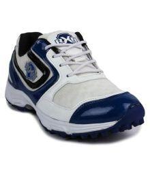 Rxn Cricket White Cricket Shoes