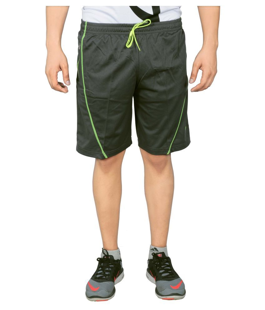 NNN Green Polyester Shorts