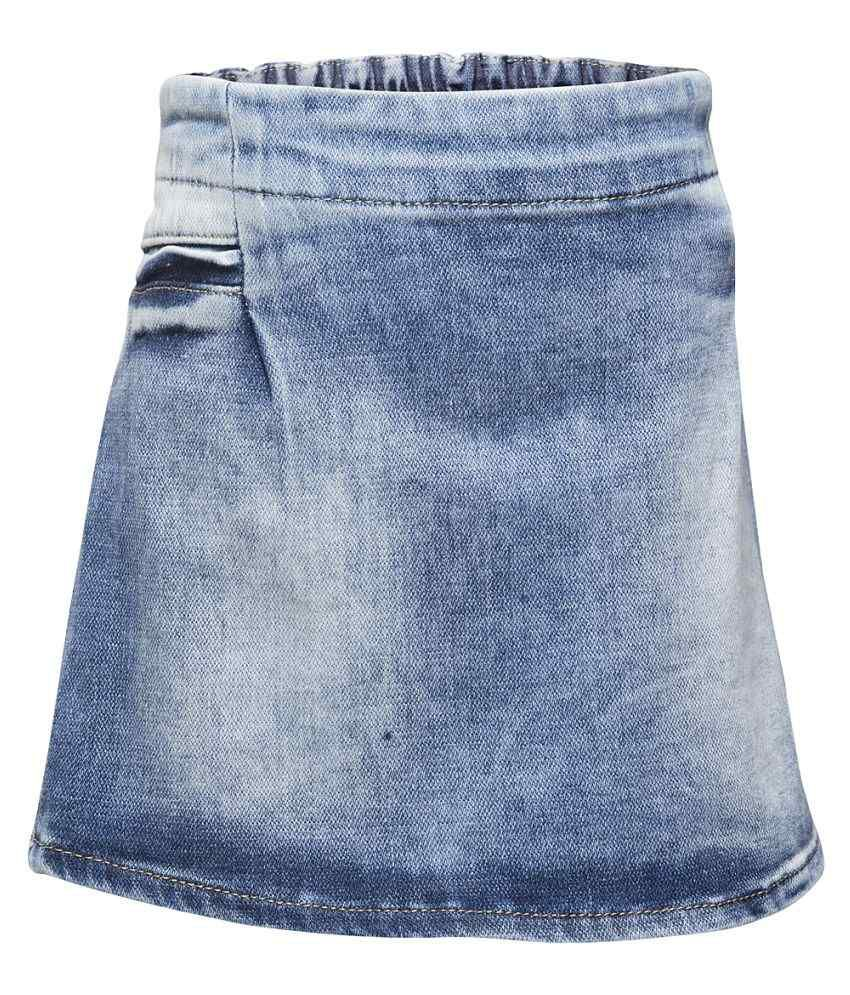 Western Basics Blue Denim Shorts