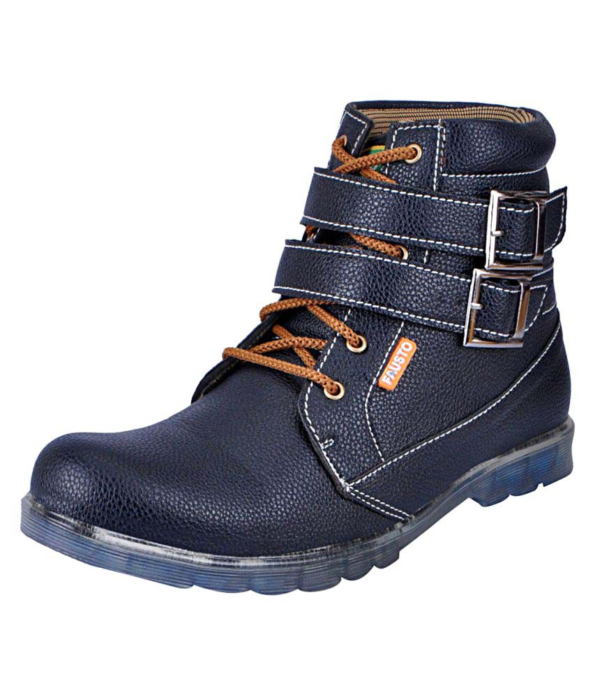 Fausto Blue Casual Boot