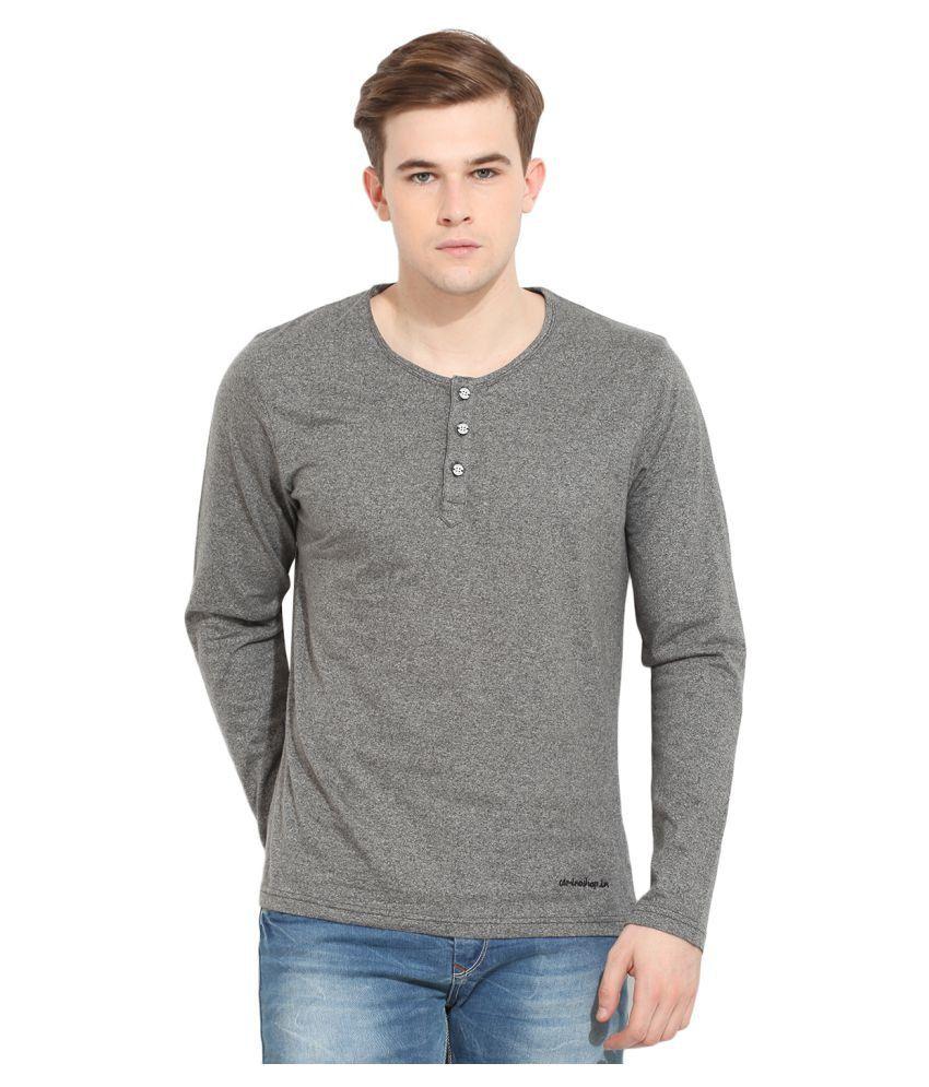 Camino Grey Henley T-Shirt