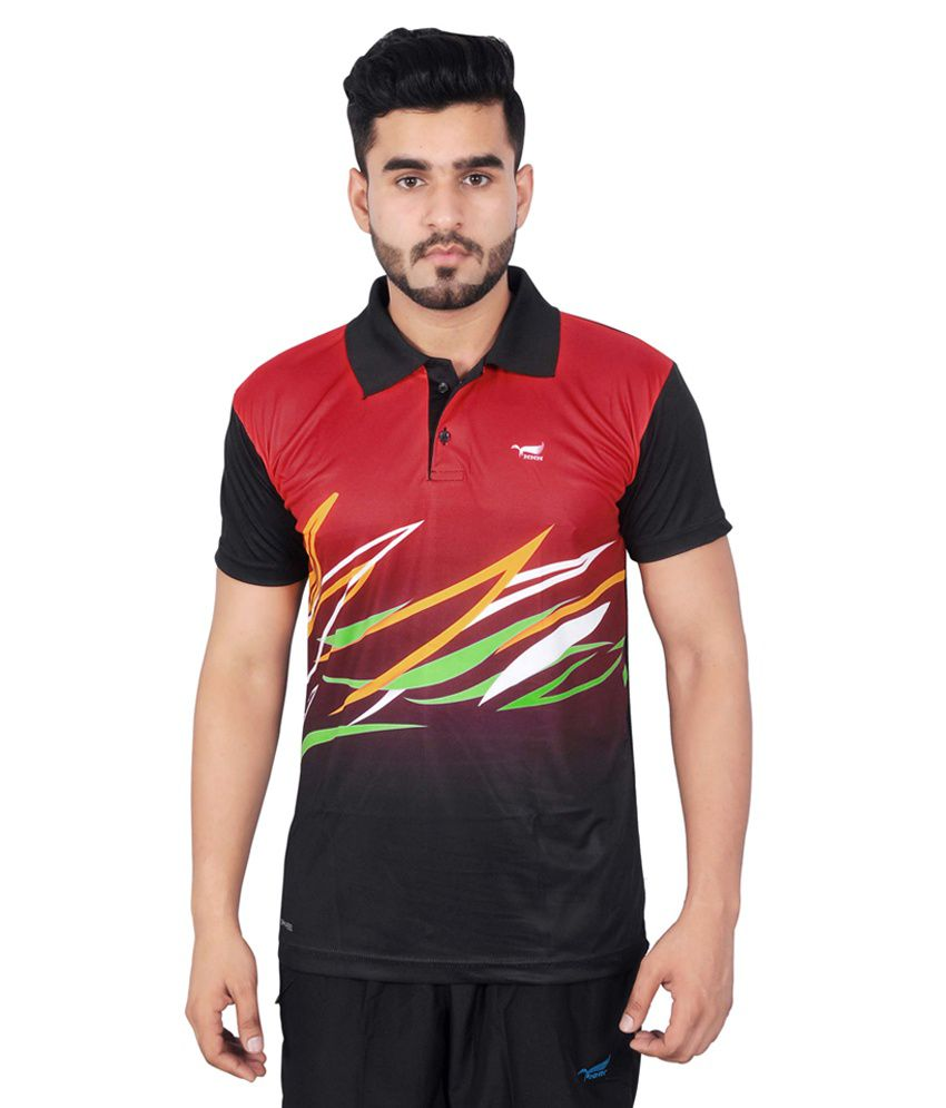 NNN Multicolour Polyester Polo T-Shirt