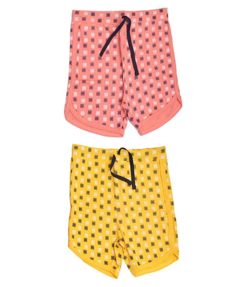 Babeezworld Multicolor Bermudas - Pack of 2
