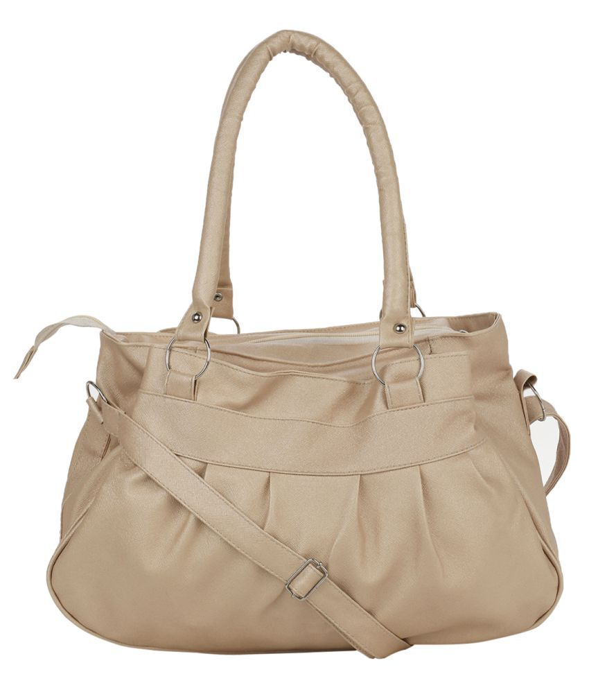 Bellina Beige P.U. Shoulder Bag