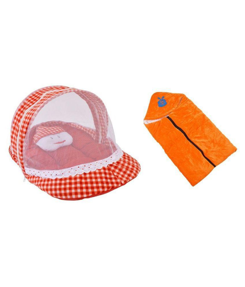 Chhote Janab Multicolor Sleeping Bag and Mosquito Net Sleeping Bed