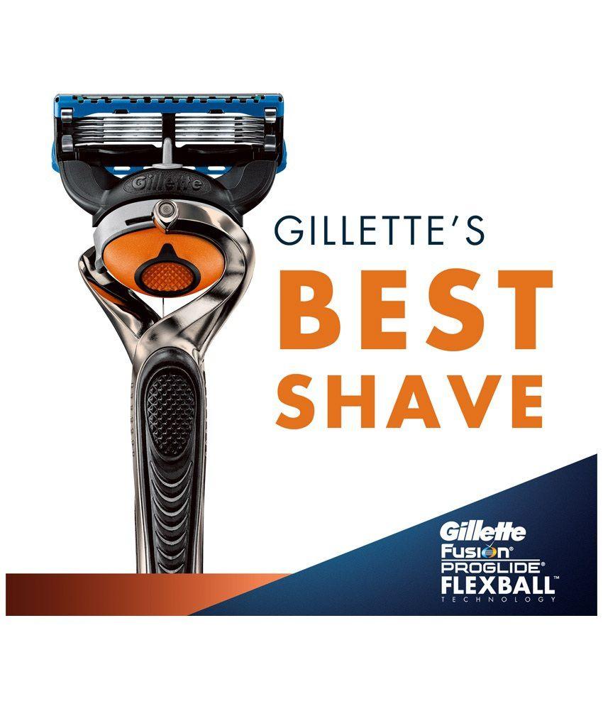 Gillette fusion proglide manual razor with flexball technology - Gillette Fusion Proglide Flexball Manual Shaving Razor Gillette Fusion Proglide Flexball Manual Shaving Razor