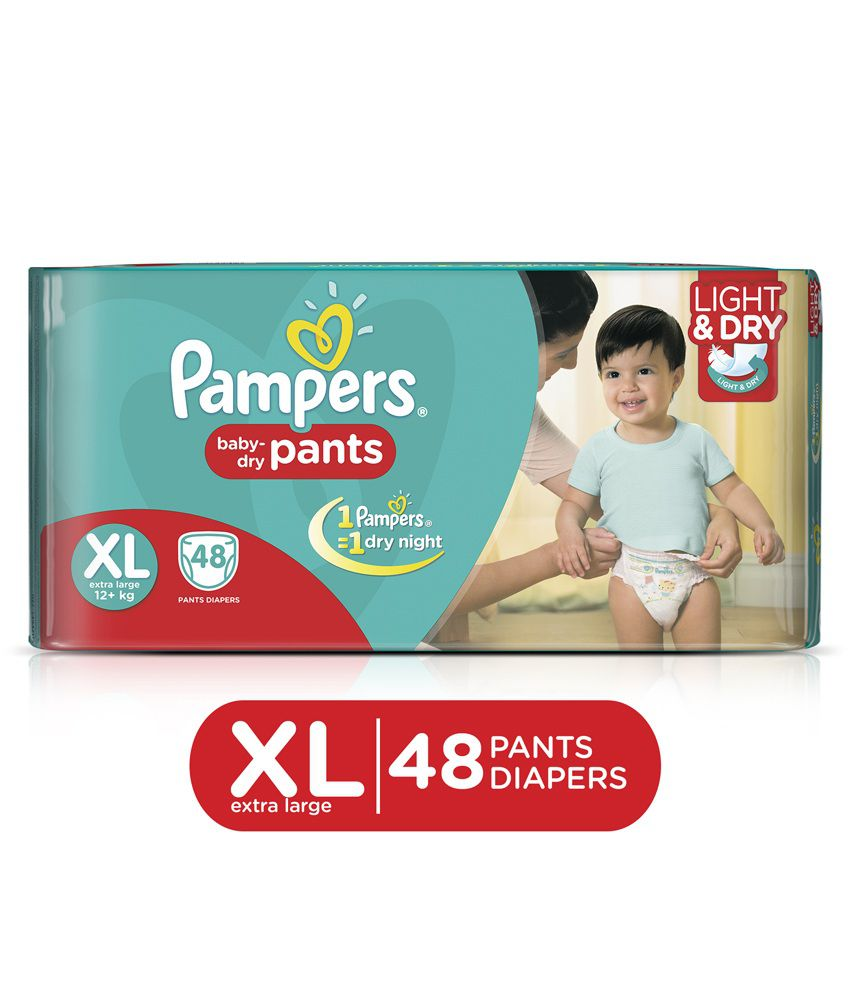 Pampers Pants Diapers Extra Size 48 pc Pack Buy Pampers Pants