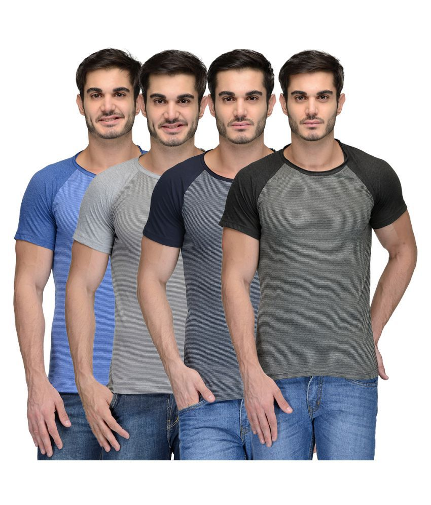 Teesort Multi Round T-Shirt Pack of 4