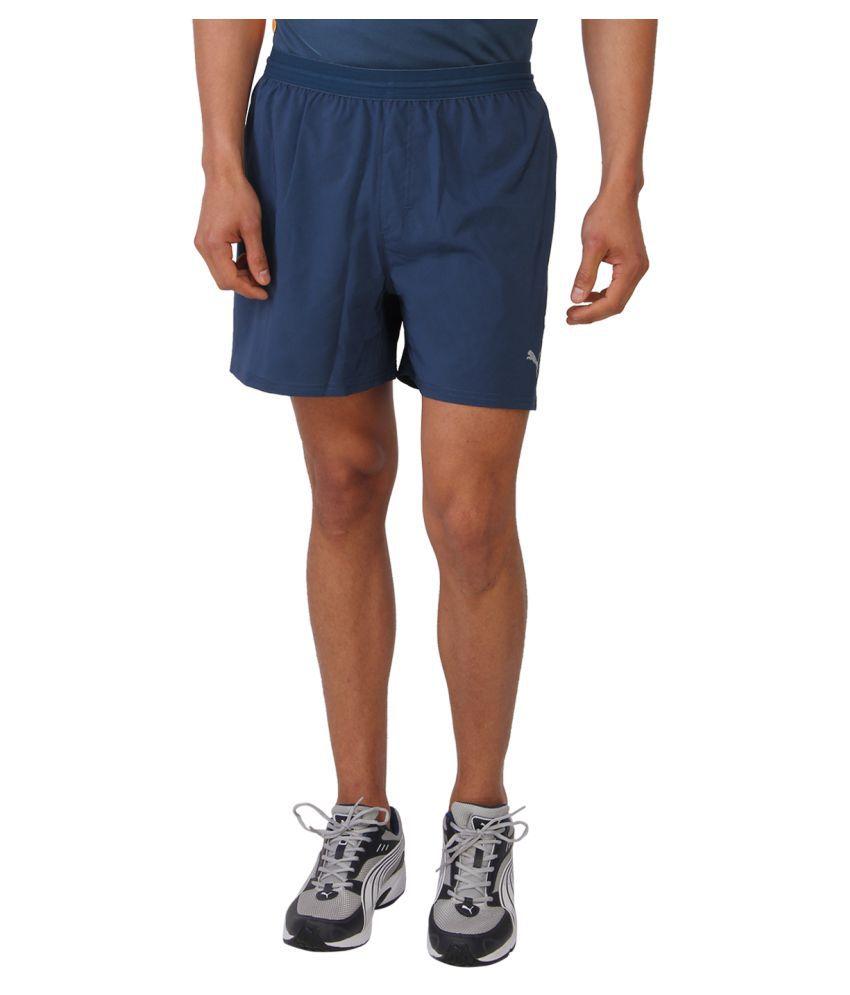 Puma Blue Polyster Shorts