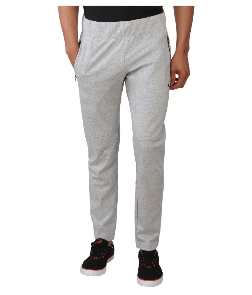 Puma Grey Cotton Trackpant