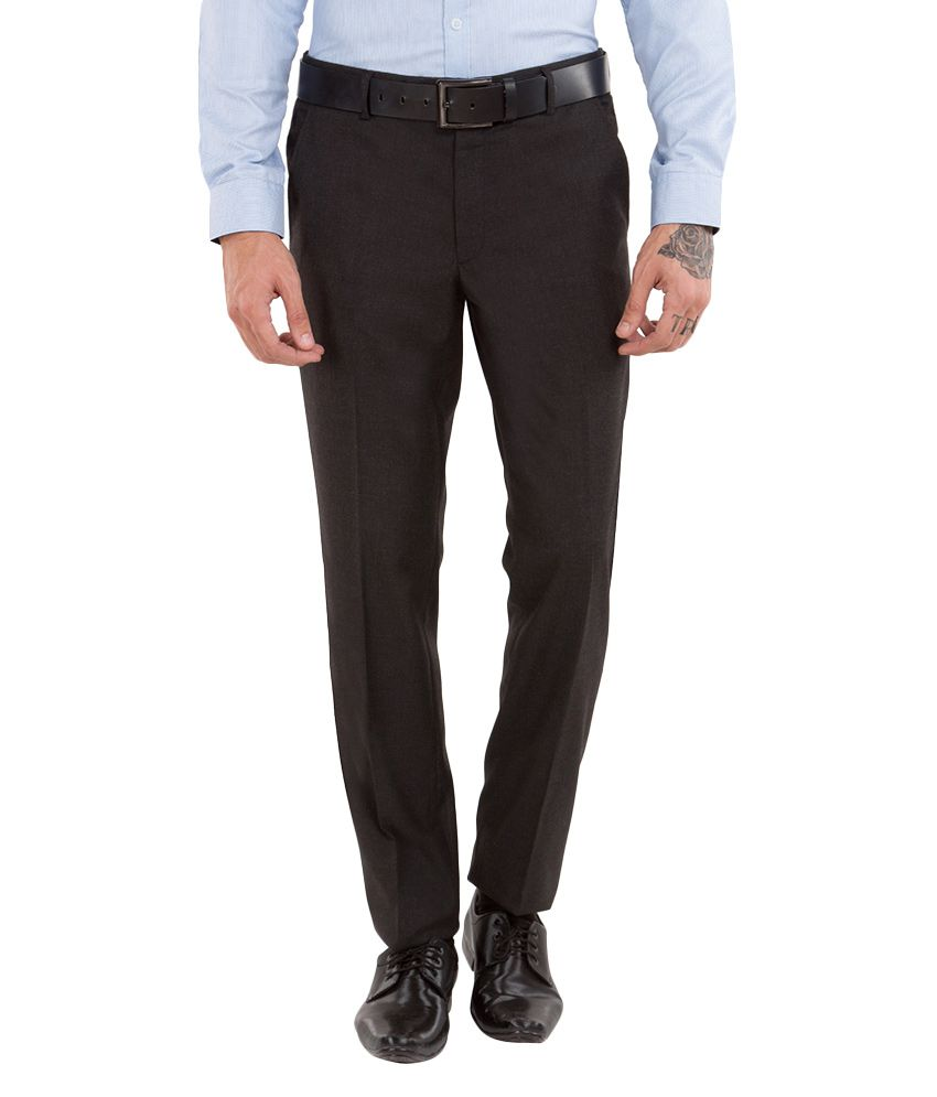 Black Coffee Black Regular Fit Trousers
