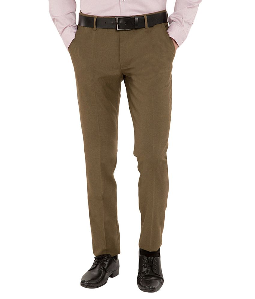 Black Coffee Green Slim Fit Trousers