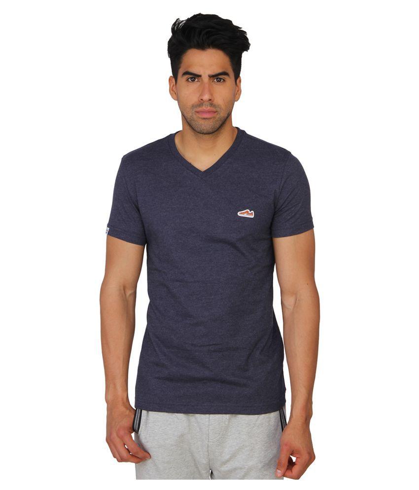 Puma Blue Cotton T-shirt