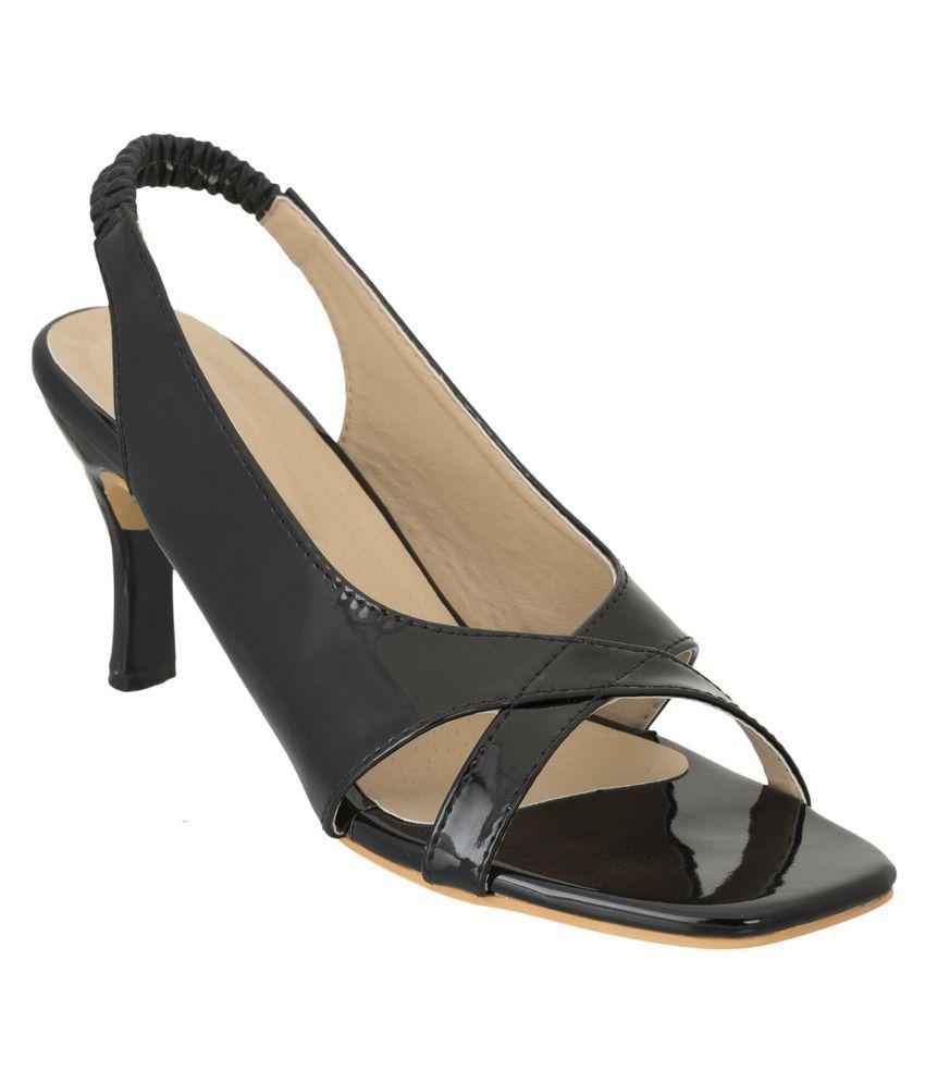 Advin England Black Stiletto Heels