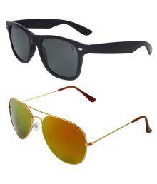 Zyaden Combo Multicolor Aviator Sunglasses - Pack Of 2