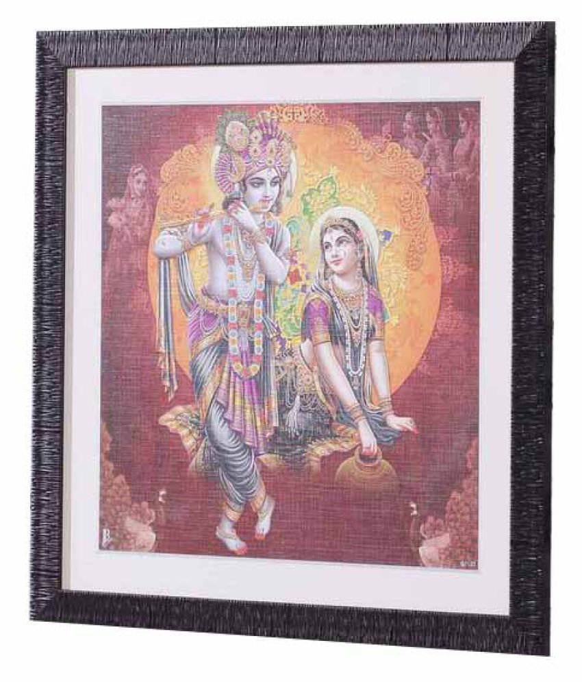 Angel Decor Rajputana Collection Wood Painting With Frame Single Piece