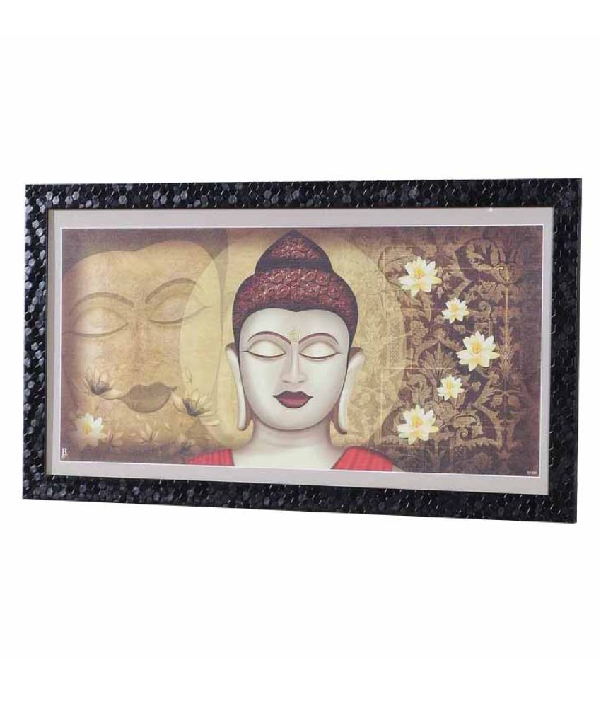 Angel Decor Rajputana Art Wood Painting With Frame Single Piece