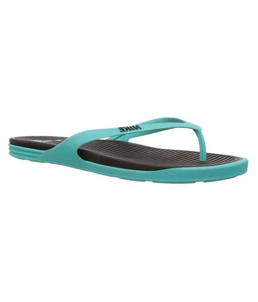 new arrival 6c805 c1141 Nike Men's Matira Black Aqua Green Flip flops and House Slippers Art  N603731013