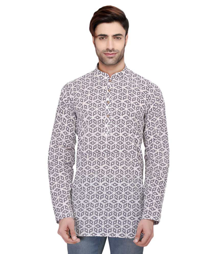 RG Designers Multi Cotton Kurta