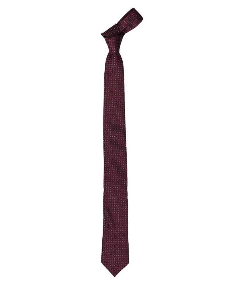 Vermello Maroon Casual Necktie