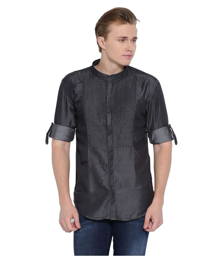 With Black Casuals Slim Fit Shirt
