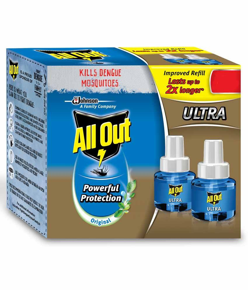 Allout Mosquito Repellent Ultra Refill Twin Pack