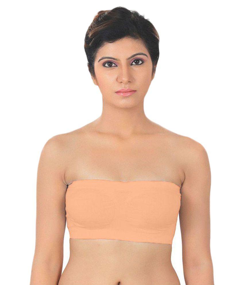 Bahucharaji Creation Peach Lycra T-Shirt/ Seamless Bra
