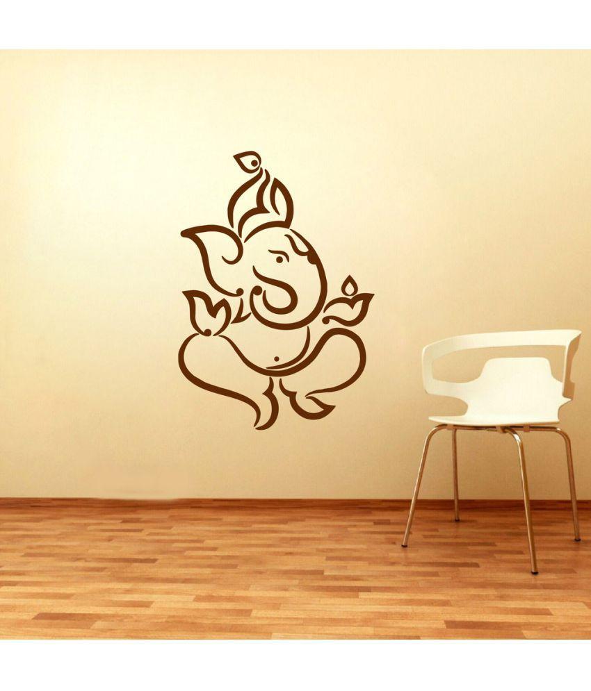 Decor Villa Ganesh Ji PVC Wall Stickers - Buy Decor Villa Ganesh Ji ...