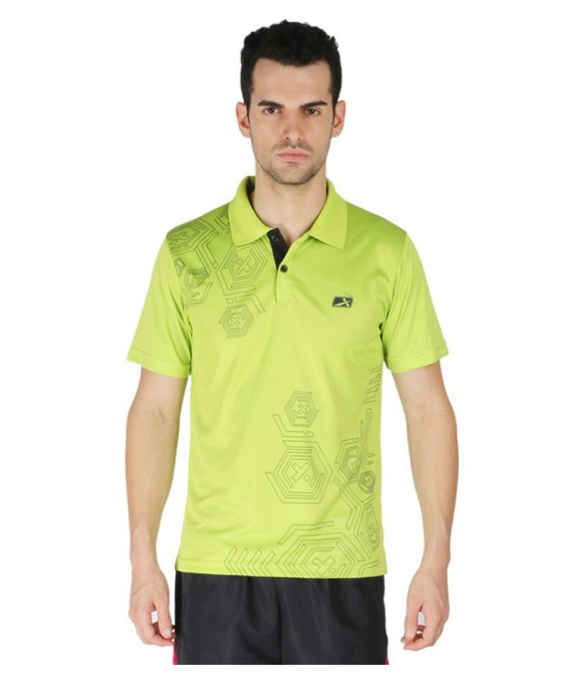 Vector X Green Polyster Polo T-Shirt