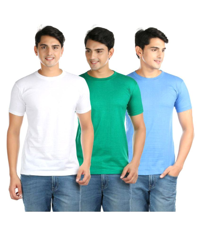Vouteil Multi Round T-Shirt Pack of 3