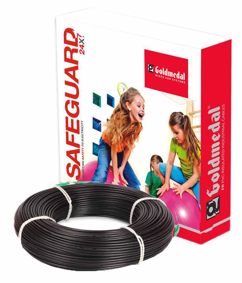 Goldmedal House Wire Black - 6 Sqmm - 90 Mtr