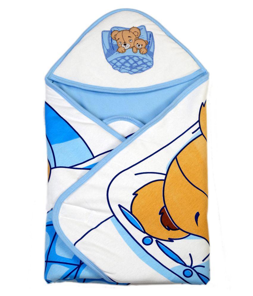 Brim Hugs & Cuddles Blue Wrapper Baby Blanket/Baby Swaddle/Baby Sleeping Bag