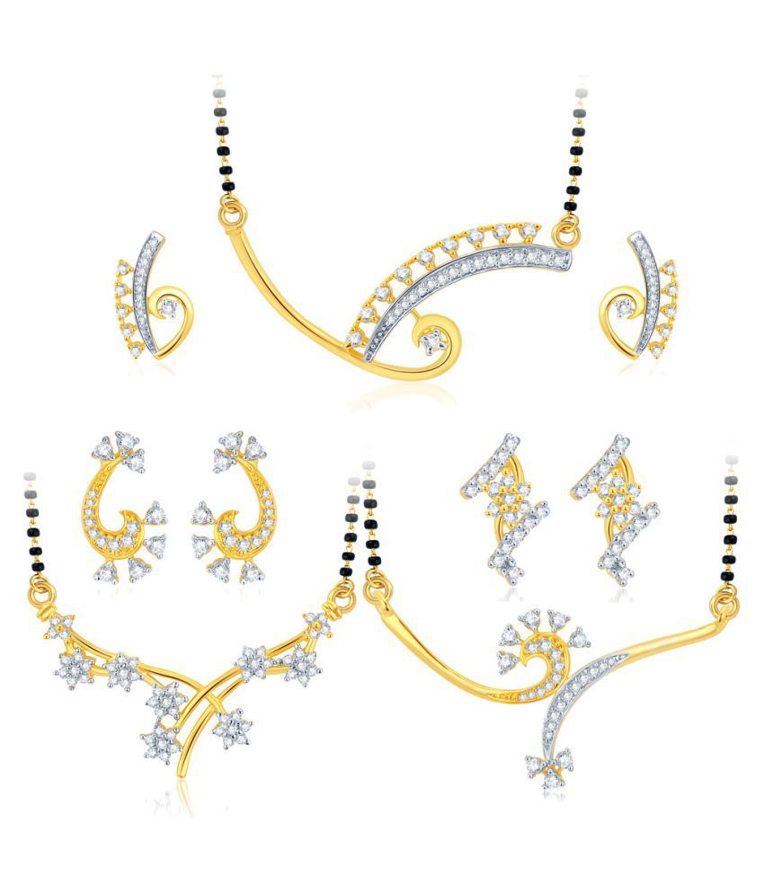 Sukkhi Multicolour Mangalsutra Set (Pack of 3) + Free Pair of Earrings of Worth INR.199/-