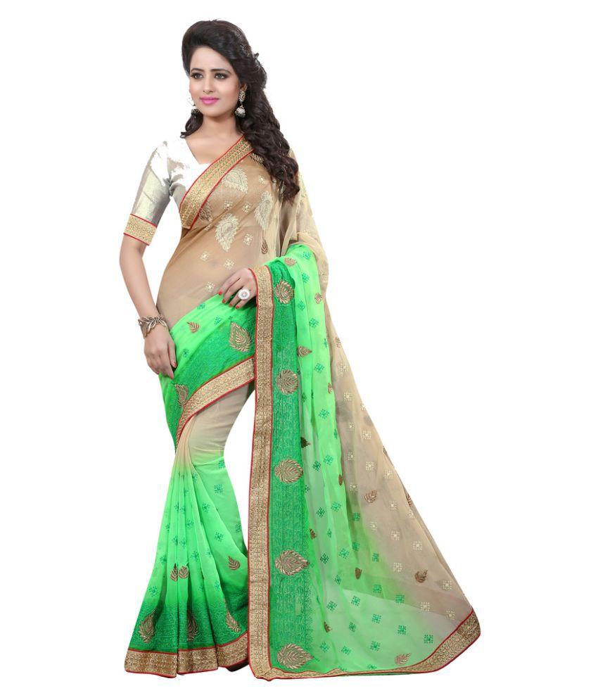 Viva N Diva Multicoloured Chiffon Saree