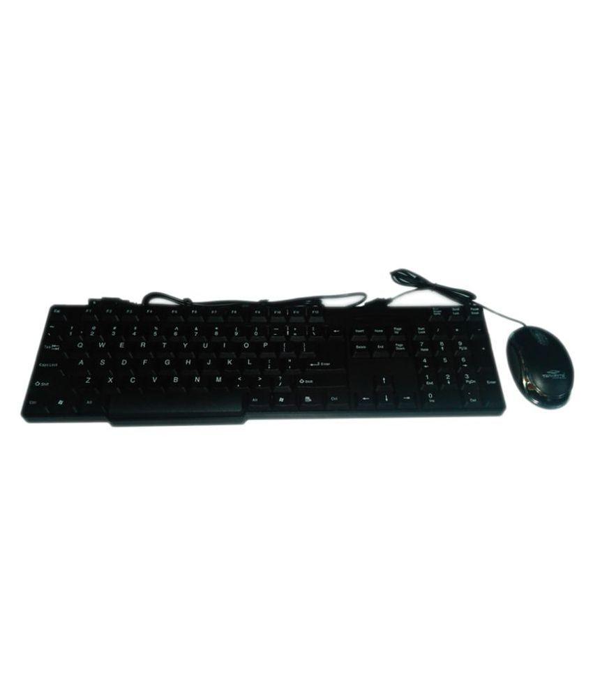 Terabyte TB-320S Black USB Wired Keyboard Mouse Combo Keyboard