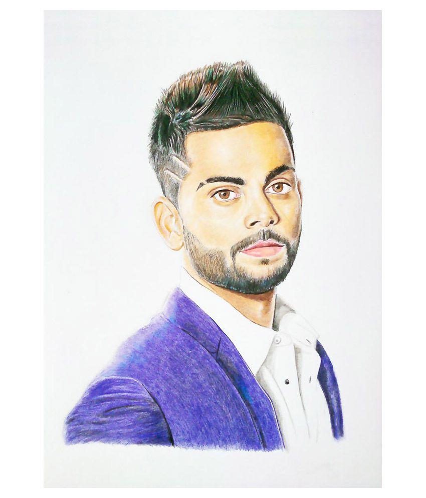Ulta Anda Virat Kohli Cricket Legend Canvas Art Prints