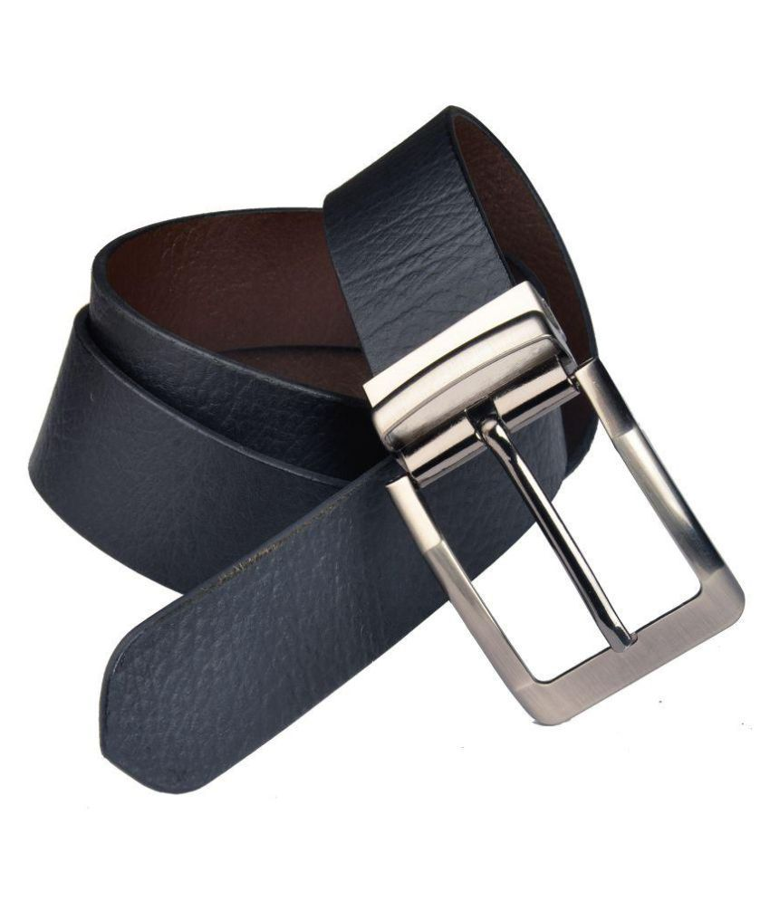Priya Collection Black Leather Formal Belts