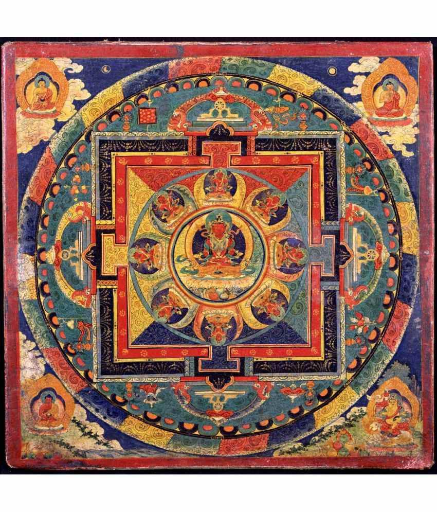 Tallenge Amitayus Mandala Canvas Art Prints Without Frame Single Piece