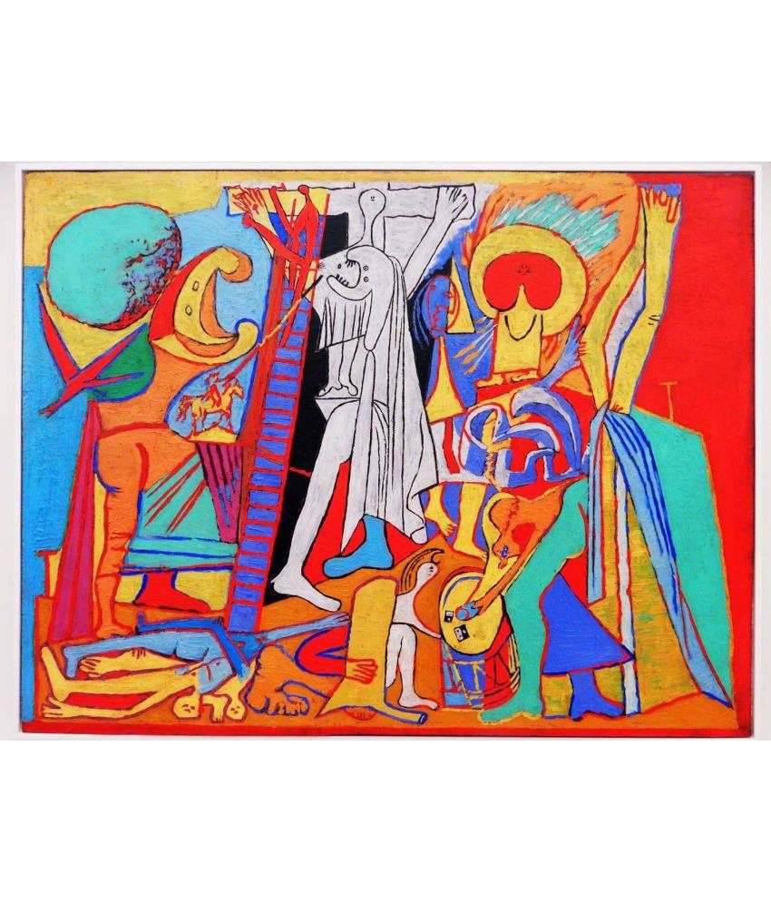 Tallenge Picasso - Crucifixion Canvas Art Prints Without Frame Single Piece