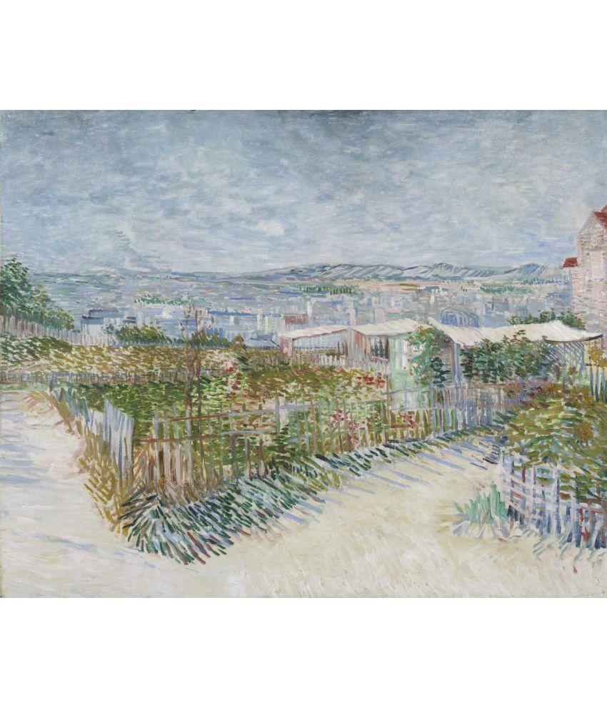 Tallenge Van Gogh - Montmartre Behind the Moulin de la Galette Canvas Art Prints Without Frame Single Piece