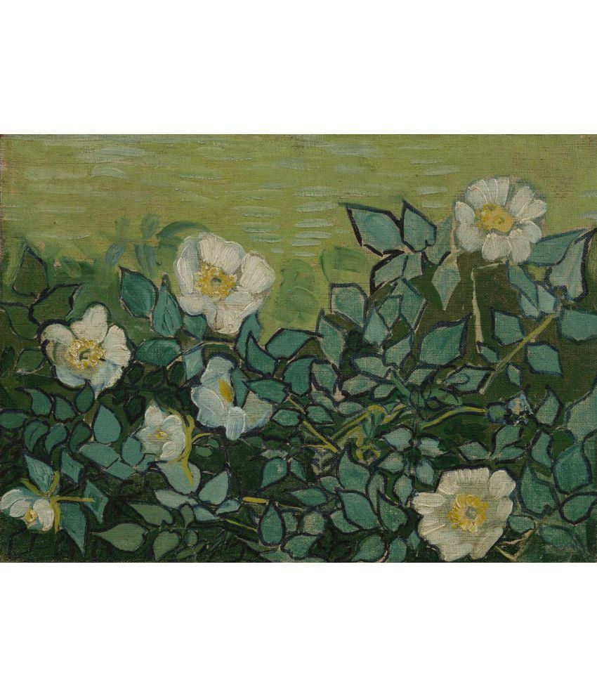 Tallenge Van Gogh - Wild Roses Canvas Art Prints Without Frame Single Piece