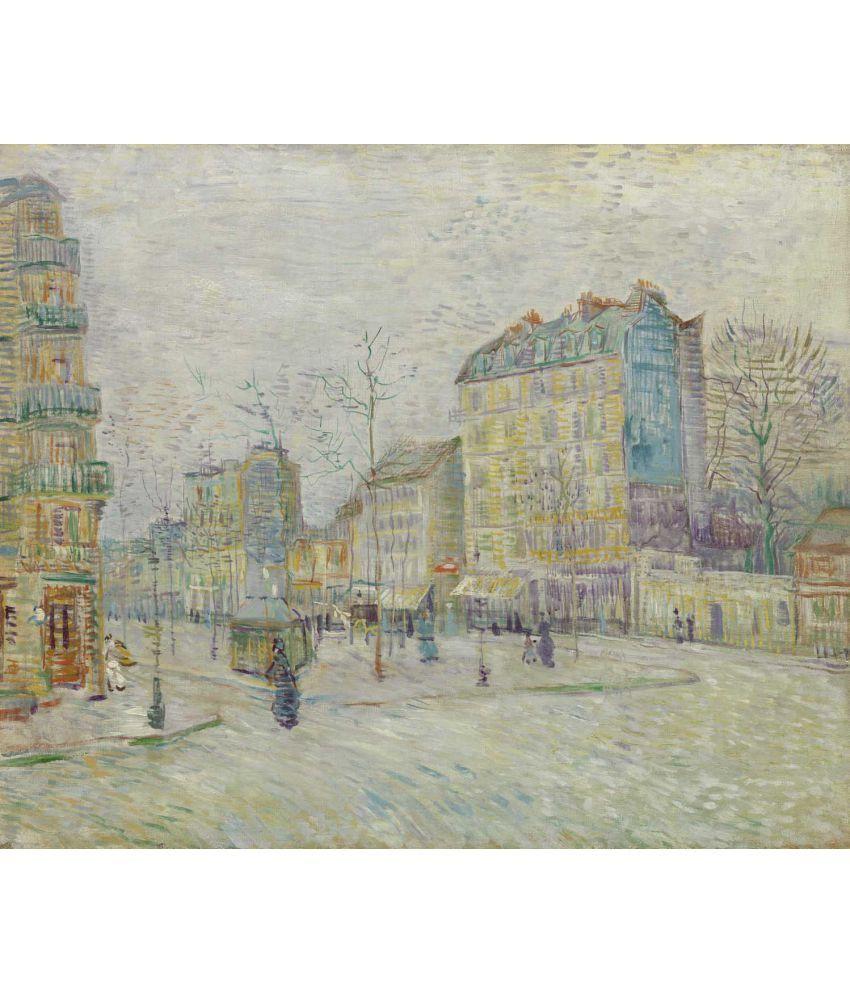 Tallenge Boulevard de Clichy Canvas Art Prints Without Frame Single Piece