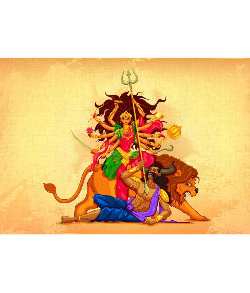 Tallenge Digital Maa Durga Canvas Art Prints Without Frame Single Piece