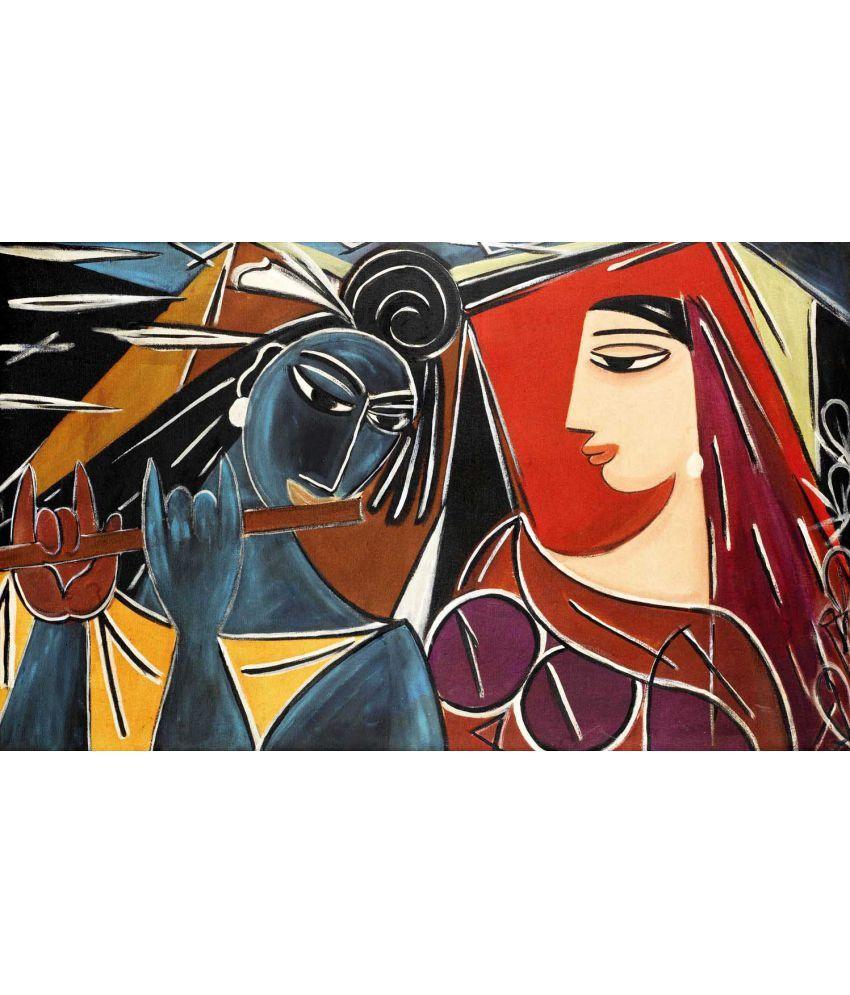 Tallenge Radha Krishna Canvas Art Prints Without Frame Single Piece