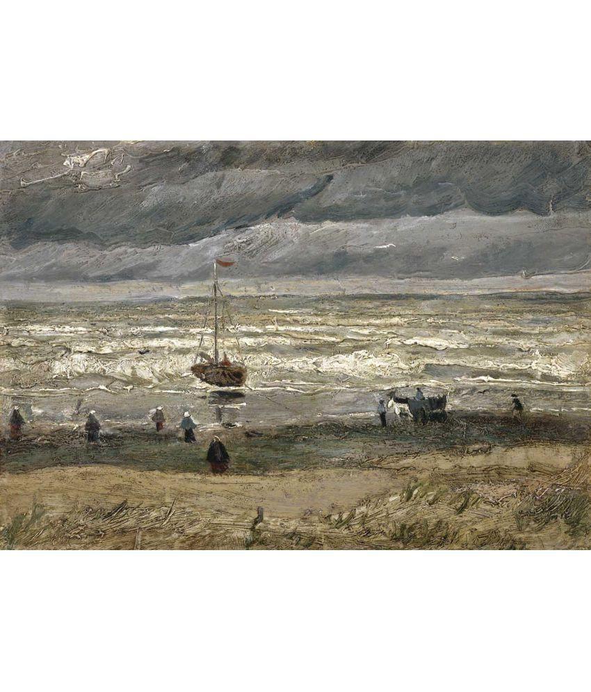 Tallenge Van Gogh - View of the Sea at Scheveningen Canvas Art Prints Without Frame Single Piece