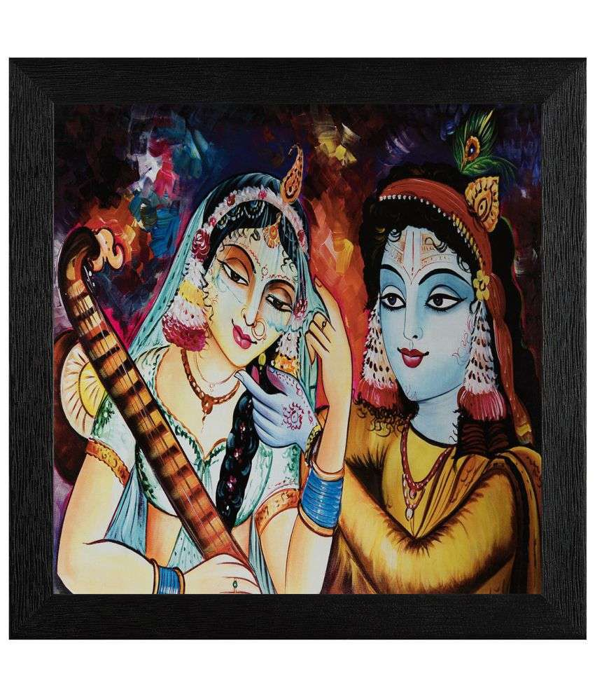 JAF Radhakrishan Wood Art Prints With Frame Single Piece